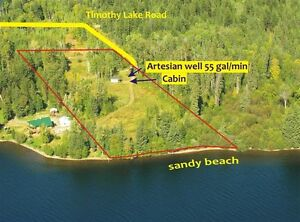 Exceptional location - Calm - 292' Waterfront - 213' Beach Williams Lake Cariboo Area image 2