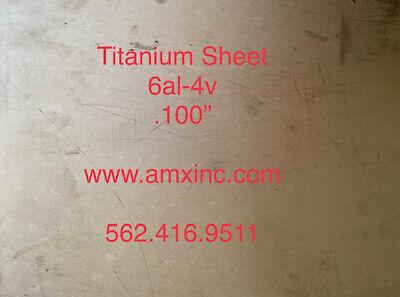 Titanium Sheet 6al-4v .100 X 12 X 12