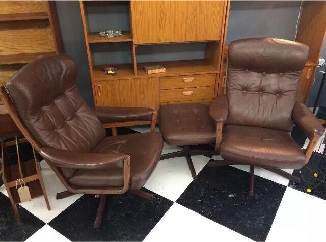 Mid Century 1970s leather Swivel Reclining Swedish G mobel chair & Mid Century 1970s leather Swivel Reclining Swedish G mobel chair ... islam-shia.org