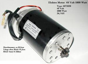 Motor elektro Magnet - 1000 Watt (1280W) 48V - 26,7A max.3000RPM - E-Scooter