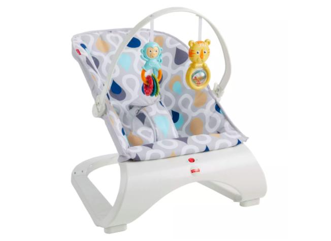 Fisher-Price Comfort Curve Bouncer Vibrating Baby Seat Joyfu