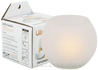 LAMPADA LED CANDELA A LED CANDLE SENZA FIAMMA E FUMO A BATTERIE TONDA