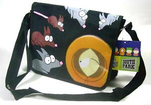 New South Park Kenny w/Rats Black Messenger Bag Purse Handbag Comedy Central