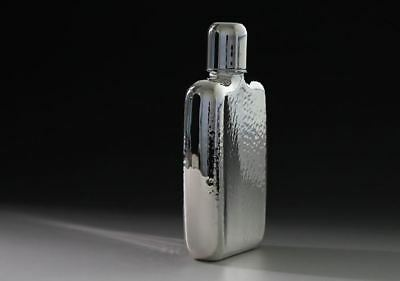 HAYAKAWA Hip flask Whisky Drink Bottle Japan Silver 180cc with Box