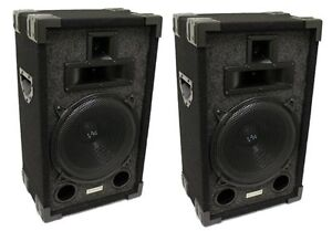 2-VM-Audio-VAS310P-1200-Watt-3-Way-10-DJ-Passive-Loud-Speaker-System-NEW
