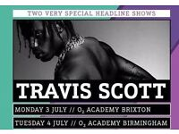 1 X Travis Scott Ticket O2 Academy Brixton London Standing Monday 3rd July