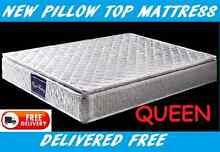 FREE DELIVERY Queen Size Pillow Top Mattress **BRAND NEW* New Farm Brisbane North East Preview
