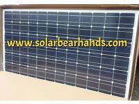 2x Solar Panels 185w house narrowboat boat van campervan 12v / 24v charger