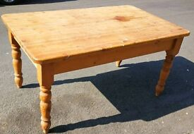 Vintage pine country cottage dining table