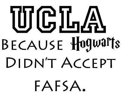 Harry Potter Fafsa College Parody Decal Sticker Decals