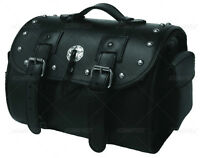 VALISE DE MOTO 101 CLOUTÉE EDGE LEATHER NOIR