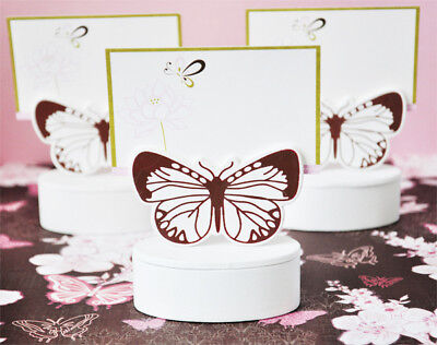 Wooden Butterfly Wedding Favor Boxes Place Card Holders ()