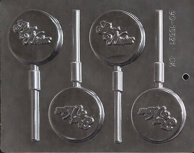 Best Wishes Chocolate Lollipop Candy Mold from CK