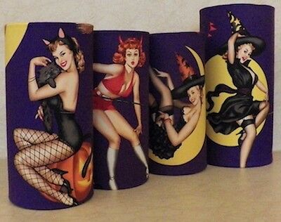 Table Lamp Halloween Costume (Vintage Pinup in Halloween Costumes Accent Lights Table Lamp Choice of 4)