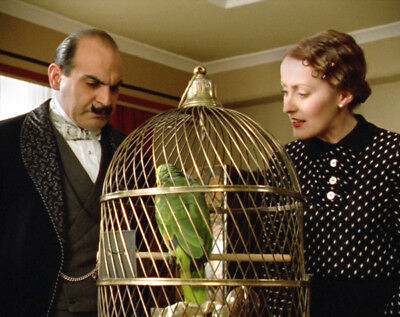 Agatha Christie's Poirot UNSIGNED photo - L4431 - David Suchet and Pauline Moran