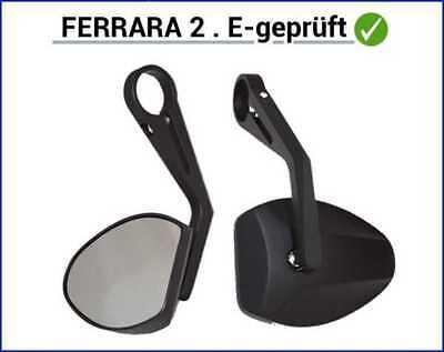 Paar HIGHSIDER Lenkerendenspiegel FERRARA 2 E-Nummer TÜV Spiegel