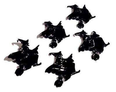 5 pcs Black Witch on flying broom Halloween appliqués DIY headband & bows - Diy Witch Broom