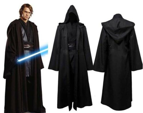 Halloween Cosplay Star Wars Jedi Sith Anakin Skywalker Costume Black