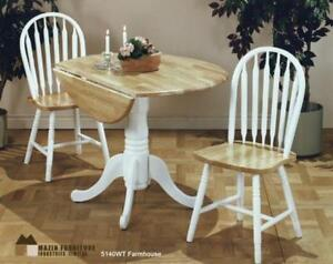 Increase space for two with new Style Dinning set now in White Finish for online Sale (MA276)