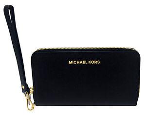 2eb15c182dd20 Michael Kors LG Jet Set Travel Phone Case Black 32H4GTVE9L Authentic ...