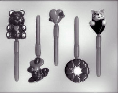 Valentine Assortment Lollipop Chocolate Candy Mold from CK #1225 - NEW