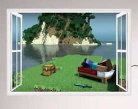 Minecraft Steve wall stickers kids bedroom