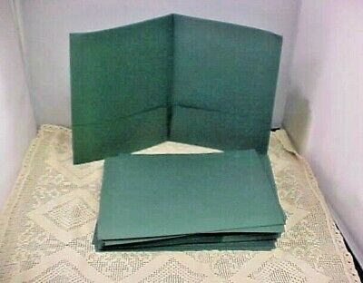 Double Pocket Folders Lot Of 41 Green Presentation Card Holder Duotang 50925