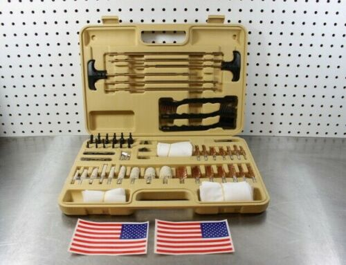 62 Piece Universal Gun Cleaning Kit Shotgun, Handgun & Rifle .223 5.56 .22 12GA