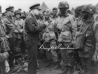 DWIGHT D. EISENHOWER - Repro-Autogramm, 20x26 cm, D-Day, repro autograph signed