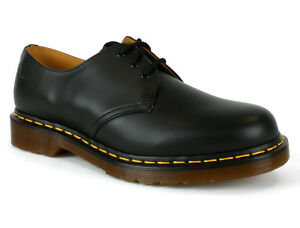New-Mens-Dr-Martens-1461-Black-Smooth-3-Eye-Leather-Formal-Shoes-Size-5-15-UK