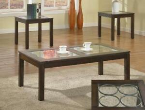 Rory 3 piece set, includes coffee table and 2 end tables, NEW