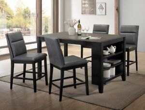 Lismore Counter Height Craft Table, include 4 comfy chairs, NEW