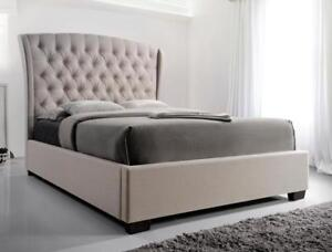 Check it out!! Queen upholstered bed frames, $299 to $899, NEW