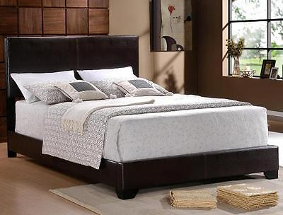 - QUEEN SIZE BLACK BI CAST LEATHER  FOOTBOARD AND HEADBOARD