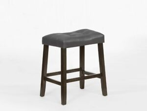Padded counter height stools, grey or black, super comfy, $89 ea