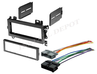 COMPLETE CAR STEREO RADIO INSTALL DASH TRIM KIT + WIRE HARNESS - DO IT YOURSELF!
