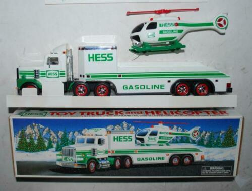 1995 HESS GASOLINE TOY TRUCK AND HELICOPTER PROMOTIONAL TOY BRAND NEW IN BOX