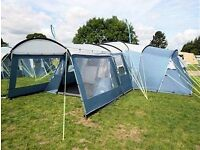 Royal pescara 8 man tent in very good condition. Incluses carpet and optional extension canopy.
