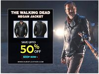 Walking Dead Motorcycle Morgan Negan Leather Jacket