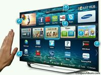 """Samsung 46"""" LED smart 3D built In CAMERA USB MEDIA PLAYER HD FREEVIEW and freesat full hd"""
