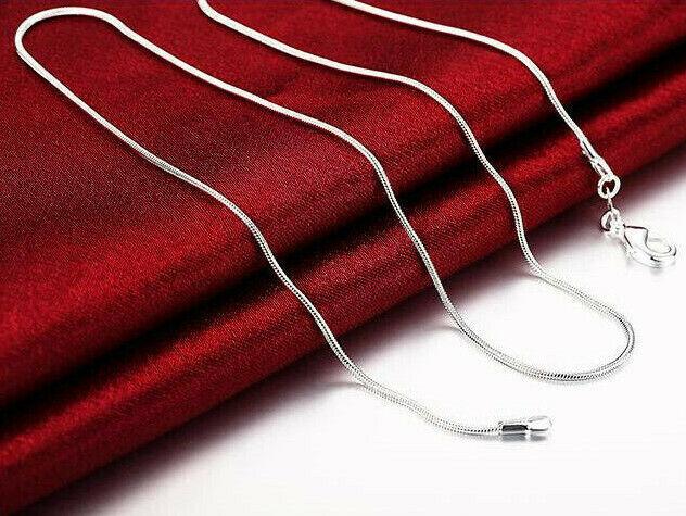 Halskette 1mm Ø feine dünne Kette 925 Sterling versilbert Damen Schmuck elegant