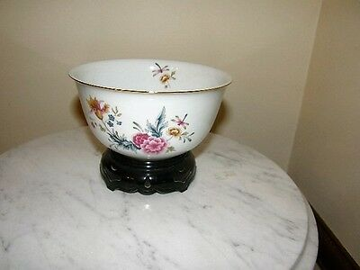 2386) Avon 1981 Small Bowl Floral Dragon Fly American Heirloom Independence Day