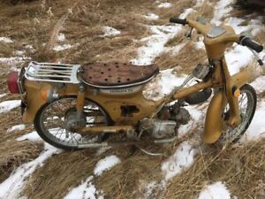 1972 Honda C70. Very fixable. Turns over. SALE PENDING