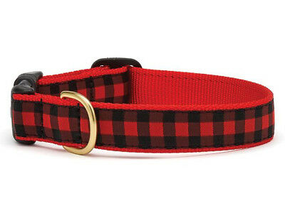 Dog Puppy Design Collar - Up Country - Made In USA - Buffalo Check - Choose Size](Puppy Up)