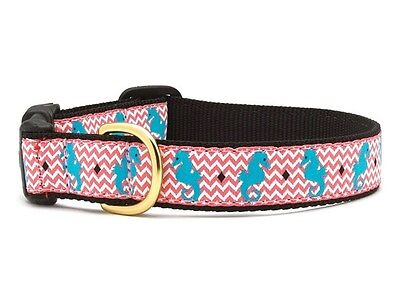UP COUNTRY SEAHORSE DOG COLLAR NYLON/RIBBON USA MADE (Up Country Hundehalsbänder)