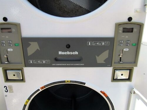 Huebsch 30lb Stack Dryers Gas Operated  Coin Laundry Equipment