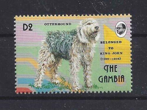 Dog Art Body Portrait Postage Stamp OTTERHOUND OTTER HOUND The Gambia MNH
