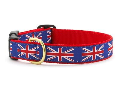 Dog Puppy Design Collar - Up Country - Made In USA - Union Jack - Choose Size](Puppy Up)
