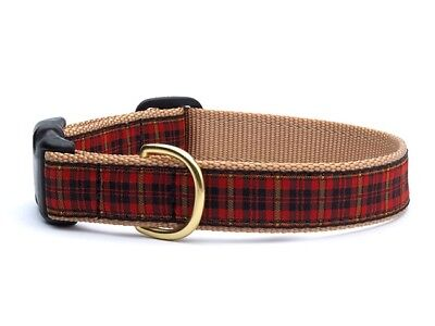 Dog Puppy Design Collar - Up Country - Made In USA - Red Plaid - Choose Size](Puppy Up)