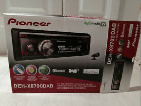 PIONEER In-Car DAB RADIO BLUETOOTH CD RDS WITH EXTERNAL DAB ANTENNA
